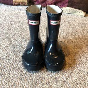 Hunter grey rain rubber boots size 7